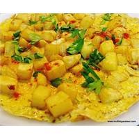 Patatesli Omlet 1