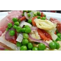 Bakla Bezelye Ve Havuçlu Enginar Salatası