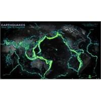 Dünyanın 114 Yıllık Deprem Haritası