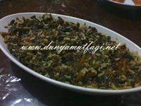 Pirinçli Ispanak Yemegi