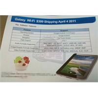 Yeni Samsung Galaxy Tab 399 Dolara Mı Satılacak?