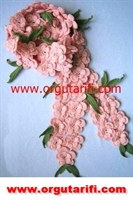 Çiçek Motifli Atkı Modeli