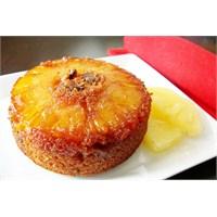 Nefis Karamel Soslu Ananaslı Kek