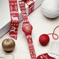 Swatch 2014 Yılbaşı Kol Saati Red Knit – Suoz172s