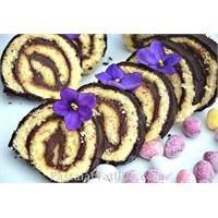 Çikolata Pudingli Rulo Pasta