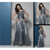 Sarah Danielle Gri Renk Abiye Elbise Modelleri