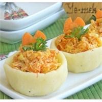 Patates Çanağında Havuç Salatası (Resimli)