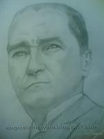 Atatürk Karakalem Çalışması