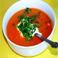 Pirinç Domates Çorbası