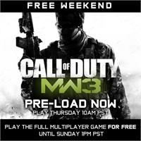Call Of Duty Modern Warfare 3 Ücretsiz Haftasonu