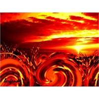 Berfend Ber Resim Çalışması '' Kızıl Güneş ''