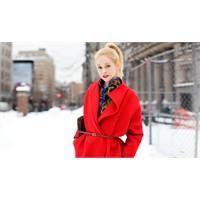 Moda:kırmızı Paltolar