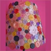 Düğmelerden Renkli Abajur Yapılışı !