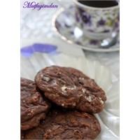 Naneli Bol Çikolatalı Kurabiyeler