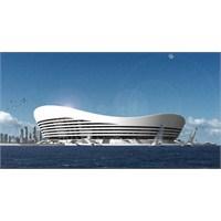 Denizin Ortasında Futbol Stadı!