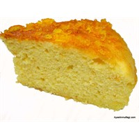 Hiç Yağsız Portakal Şuruplu Kek-1