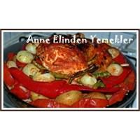 Fırında Makarnalı Sebzeli Tavuk
