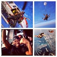 Usher Dubai'de Skydiving Yaptı