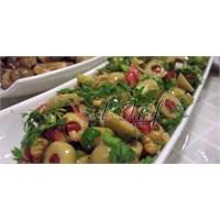 Yeşil Zeytin Salatası, Kahvaltı - Meze