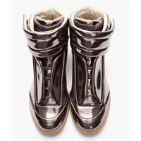 Metal Görünümlü Spor Ayakkabı