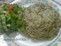 Yeşil Mercimekli Pirinç Pilav