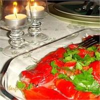 Közlenmiş Kırmızı ( Kapya ) Biber Salatası