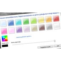 Windows 7 Home Basic Pencere Rengini Değiştirmek