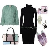 Siyah Elbiseyle Farklı Kombinler -8