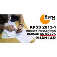 2013 Kpss Haziran Ayındaki En Düşük Puanlar