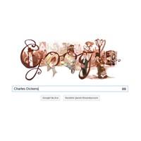 Google'ın Yeni Logosu Charles Dickens