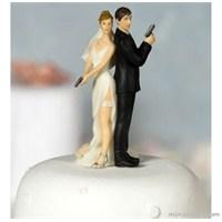 Eğlenceli Düğün Pastası Tepe Süsleri