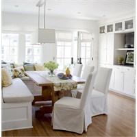 Harika Beyaz Bir Mutfak Dekorasyonu