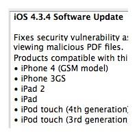 İphone İos 4.3.4 Yazılım Güncellemesi Yayınlandı