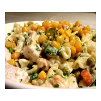 Leziz Tavuklu Makarna Salatası
