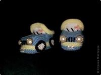 İki Şişle Arabalı Patik Örme