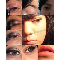 Pembe Tonlarında Göz Makyajı