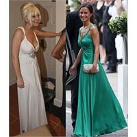 Lindsay Pippa Middleton'un Elbisesini Giyerse