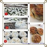 Nefis Ispanaklı Rulo Gül Böreği