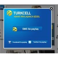 Yeni Turkcell İle Paylaş Butonu Geldi