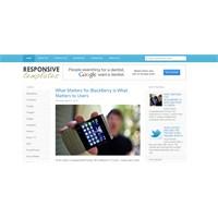 Responsive Teknoloji-sosyal Medya Blogger Teması