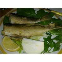 Bol Salata Eşliğinde Tavada Balık