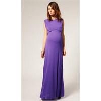 Uzun Hamile Elbise Modelleri