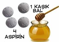 4 Aspirin Ve 1 Kaşık Bal İle Sivilcelere Son...