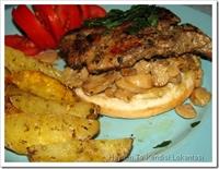 Mantarlı Bonfile Ve Fırında Baharatlı Patates