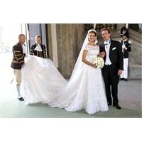 İsveç Prensesinin Valentino Tasarımı Gelinliği