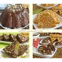 Mozaik Pasta Tarifleri (Klasik, Havuçlu, Pudingli)