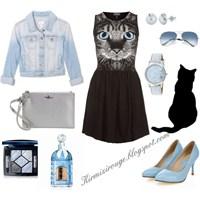 Siyah Elbiseyle Farklı Kombinler -3