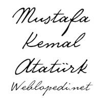 Atatürk'ün El Yazısı Artık Bilgisayarlarda!