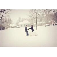 Kışın Dış Çekim Evlilik Fotoğrafı Çektirmek Harika