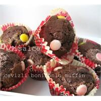 Cevizli Kakaolu Bonibonlu Muffin.....Disalce
